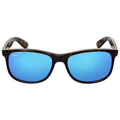 Ray-ban Andy Polarized Blue Flash Sunglasses