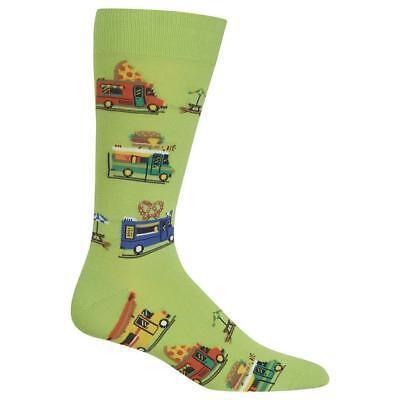 Food Truck Hot Sox Men's Crew Socks Green New Novelty Fast Food Fashion