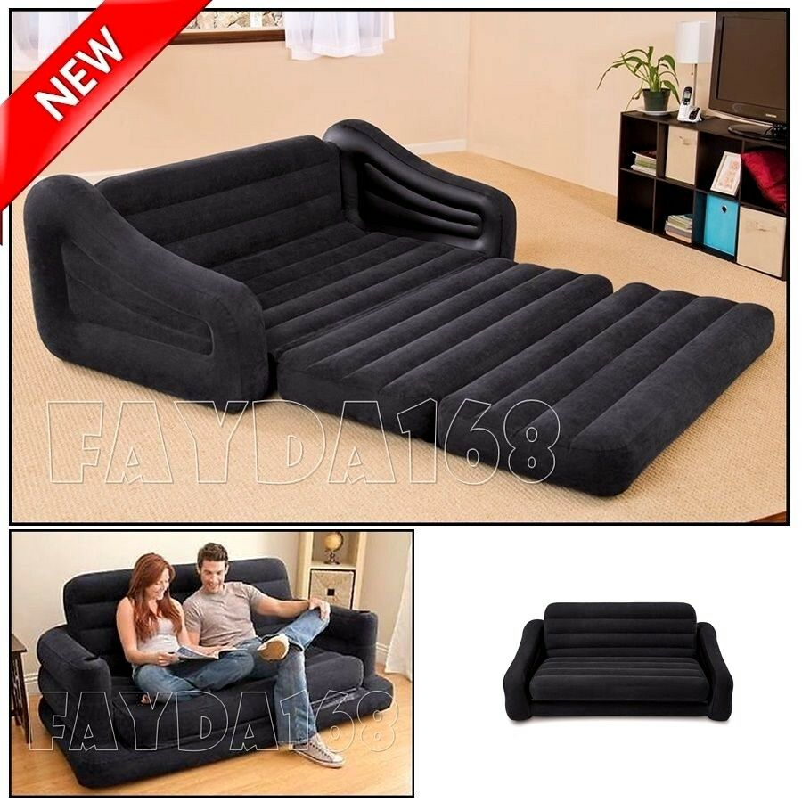 LARGE Futon Sectional Sofa Couch Air Bed Loveseat Sleeper Living