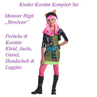 KINDER MONSTER HIGH HOWLEEN WOLF KOSTÜM & PERÜCKE - Howleen Monster High Kostüm