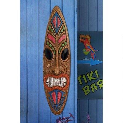 Hawaiian God of Thunder Primitive Tiki Wall Sculpture Yard Pool Patio Decor