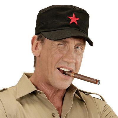 ROTER STERN MÜTZE # Che Guevara Käppi Kuba Hut Revolutionär Kostüm Zubehör - Rote Kostüm Zubehör