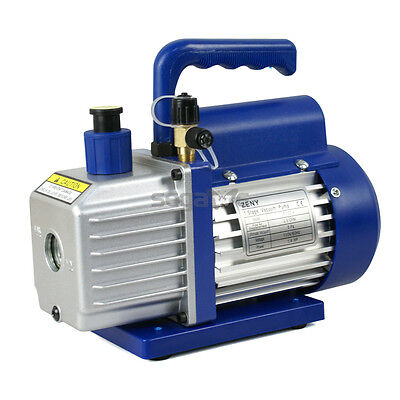 3.5cfm Rotary Vane Vacuum Pump Single Stage Hvac 14hp Air Conditioning Ac Deep