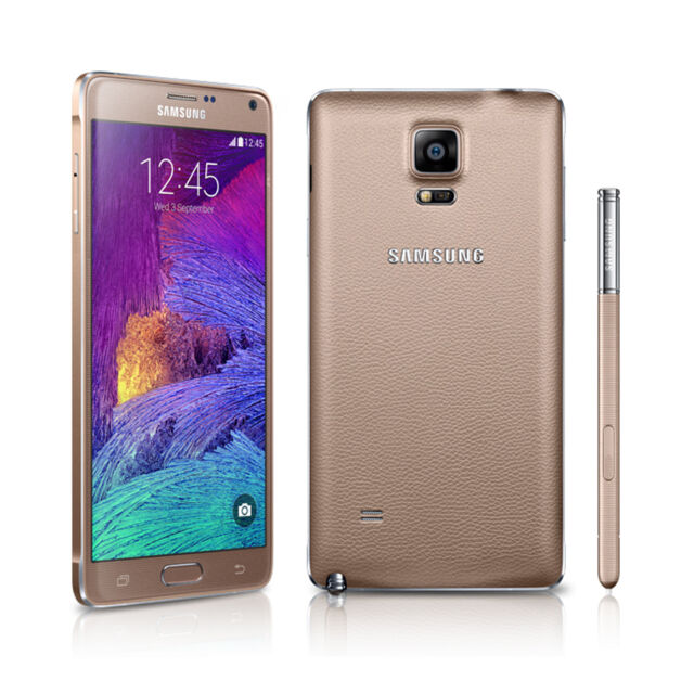 Unlocked Samsung Galaxy Note 4 SM-N910T 32GB 4G LTE Smart Phone - Bronze Gold