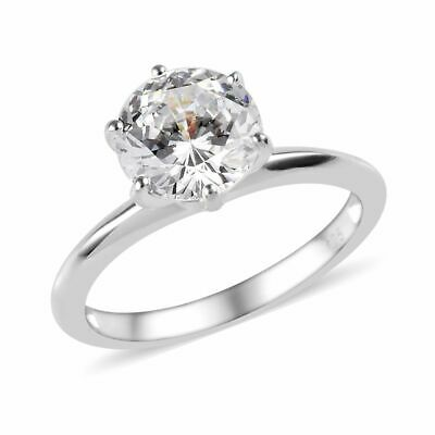 J FRANCIS 3.25 Ct Made Swarovski® Zirconia Solitaire Ring Sterling Silver