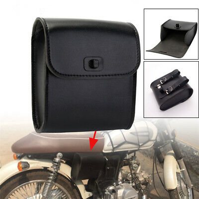 Freedom Synthetic Leather - Black Synthetic Leather Universal Motorcycle Bikes Handlebar Luggage Saddle Bag