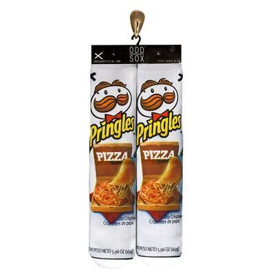 Crew Toe Sox Socks (Odd Sox Pringles & Pizza Contrast Toe Smooth Blend Crew Socks Mn's 6-11 NWT )