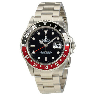 Pre-owned Rolex GMT Master II Automatic Chronometer Black PRE-RLX16710COKE
