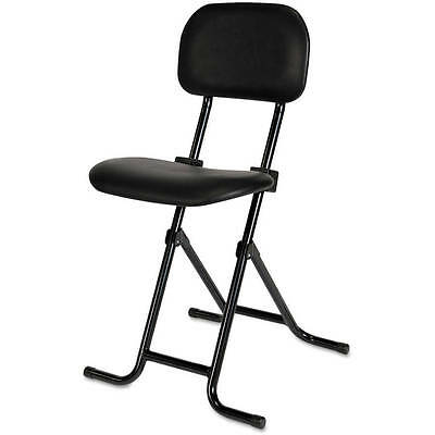 Folding Stool With Back Adjustable Height Counter Black Metal Bar Shop Small   ()