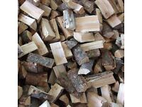 FULLY SEASONED LARCH LOGS READY TO BURN NOW FIREWOOD CUT AND SPLIT TIMBER FROM £56 PER CUBIC METER