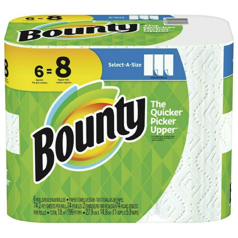Bounty 6=8 Select Size A Paper Towle