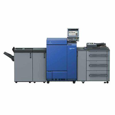 Loaded W Options Low Clicks Konica Minolta Bizhub Press C1100 Digital Press