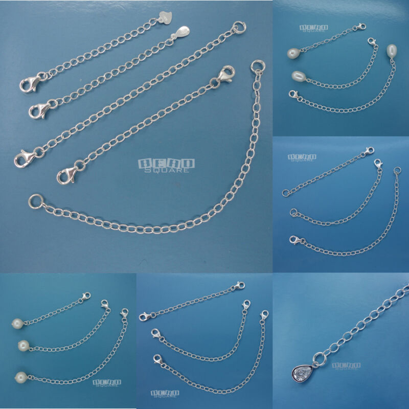 1 PC Sterling Silver Extender / Safety Chain / Connector for Necklace / Bracelet
