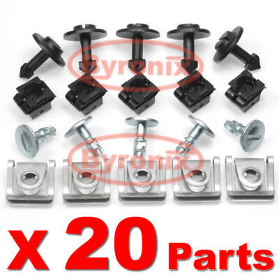 AUDI UNDERTRAY UNDER ENGINE COVER REPAIR KIT CLIPS SET SPLASHGUARD TRIM PANEL
