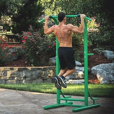 Stamina Outdoor Fitness Power Tower 65-1460 Sit/Pull Ups Knee Raise Dip Station