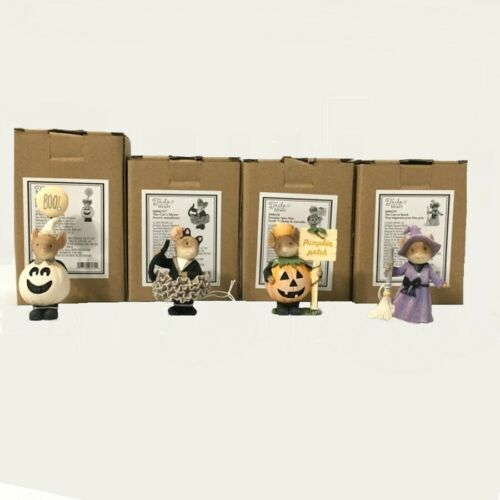 Dept.56 Tails With Heart 2020 HALLOWEEN MICE 4pc Resin Figurine Set, NEW, Enesco