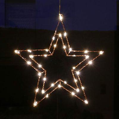 LED Stern Fenster 47 cm Wand Deko beleuchtet aus Draht Weihnachtsbeleuchtung  ()
