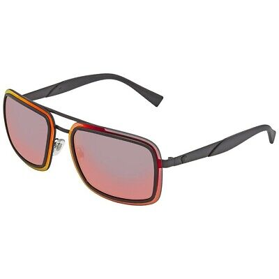 🍀NEW VERSACE Rectangle Sunglasses VE2183 12616Q Matte Black/ Red Flash (Versace Sunglasses Men Cheap)