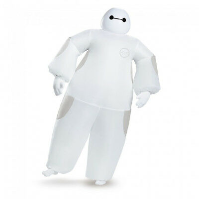 White Baymax Inflatable Adult Costume Big Hero 6 Disney Movie Blow Up Mask