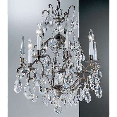 Antique Bronze Classic Crystal - Classic Lighting Versailles Crystal Chandelier, Antique Bronze - 9004ABC