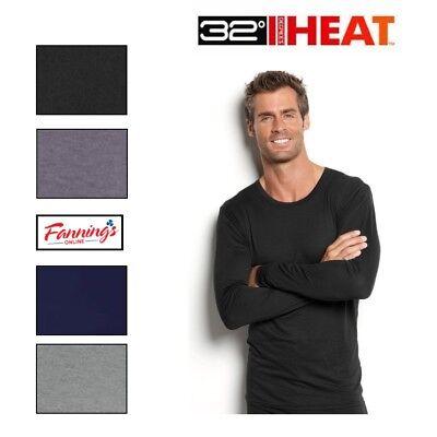 32 Degrees Heat Mens Weatherproof Long Sleeve Base Layer Crewneck Shirt S   Xxl