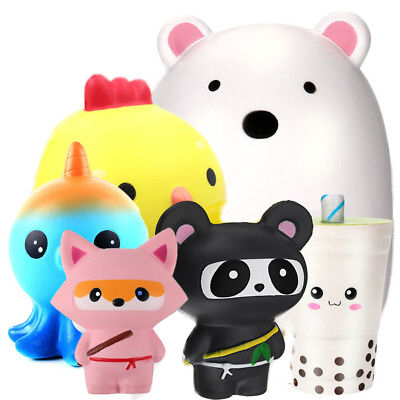 Jumbo Cute Slow Rising Scented Charms Kawaii Soft Squishy Squeeze Toy Cure - Squeeze Toy Squishy