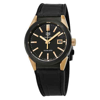 Tag Heuer Carrera Black PVD Steel With 18kt Rose Gold Ladies Watch