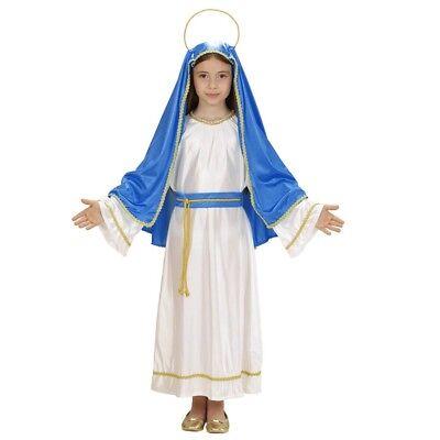 JUNGFRAU MARIA KINDER KOSTÜM Weihnachten Kirche Heilige Mädchen - Jungfrau Maria Kostüm