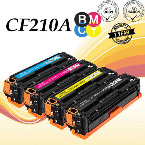 6 PK CF210A CF213A Toner 131A For HP LaserJet Pro 200 Color MFP M251nw M276nw