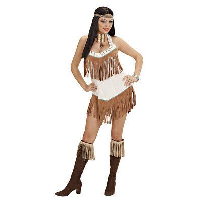 DAMEN INDIANERKOSTÜM Karneval Indianerin Indianer Frau Western Kostüm Kleid (Indianer Frau Kostüm)