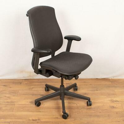 Herman Miller Celle Office Desk Chair Grey Black Fully Adjustable Back Support