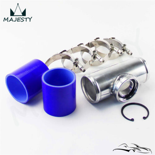 EPMAN Aluminium Blow Off Valve Adapter t Pipe Fitting 51mm 2 For Tail 50mm BOV Silver