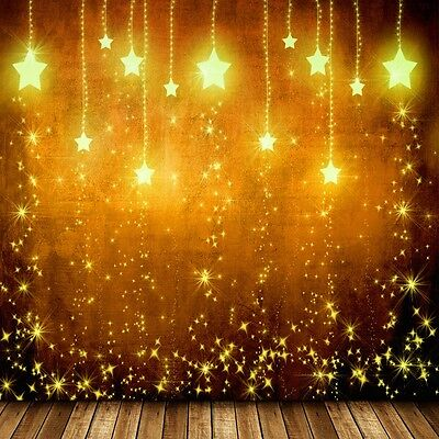 8X8ft  Cool Flashing Stars Photography Background Backdrops Studio Props Vinyl