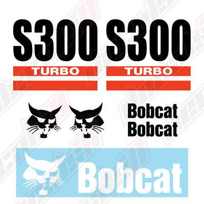 Bobcat S300 Turbo Skid Steer Set Vinyl Decal Sticker - Aftermarket