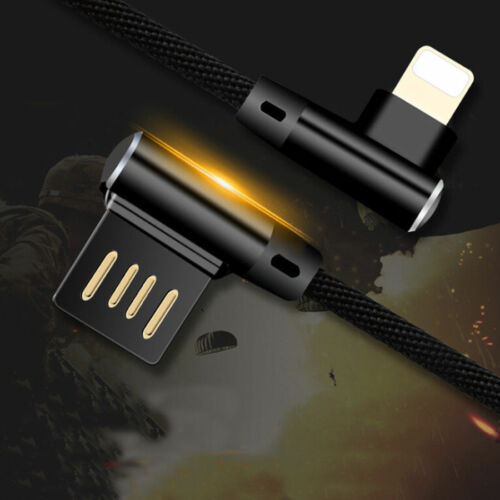 3 Pack 1M Right Angle 90 Degree Lightning Charger Cable & Data Cord for iPhone