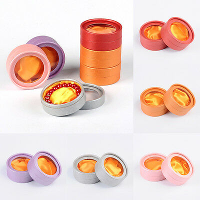 60 Round Cardboard Bracelet Jewelry Boxes Bangle Display Window Packing 85x35mm - Round Cardboard Boxes