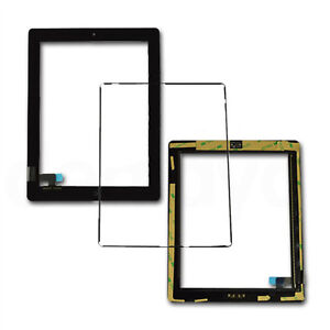 For iPad 2 Black Replacement Screen Touch Digitizer+Mid Frame Bezel&Home Button