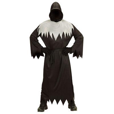 SENSENMANN HERREN KOSTÜM & Gesichtslose Maske # Halloween Horror Tod Party - Großen Schwarzen Kostüm