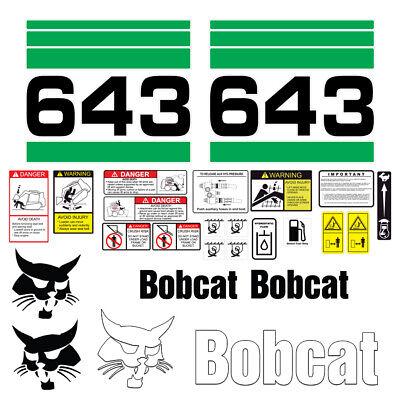 Bobcat 643 Skid Steer Set Vinyl Decal Sticker - 25 Pc