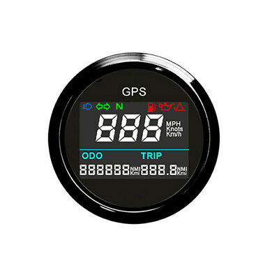 52mm Motorcycle Moped Scooter GPS Electronic Speedometer 0~999 MPH Digital LCD