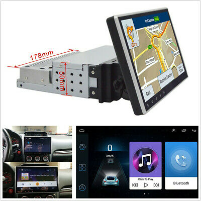 "10.1"" 1Din Android 9.1 Adjustable Autos GPS 1GB+16GB Wifi BT Mirror Link OBD DAB"