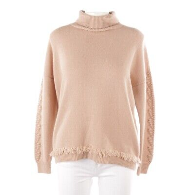 Incentive! Cashmere Cashmere Pullover Size S Beige Ladies Top New