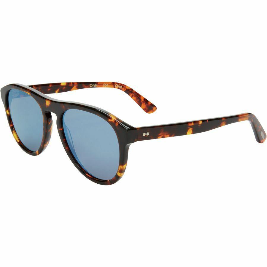 TOMS Declan Sunglasses, Whiskey Tortoise / Flash Blue Mirror