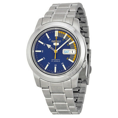 Seiko 5 Blue Automatic Mens Watch SNKK27