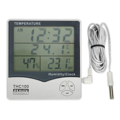 Thermometer (In/Out)/Hygrometer/Clock Model No.  THC100