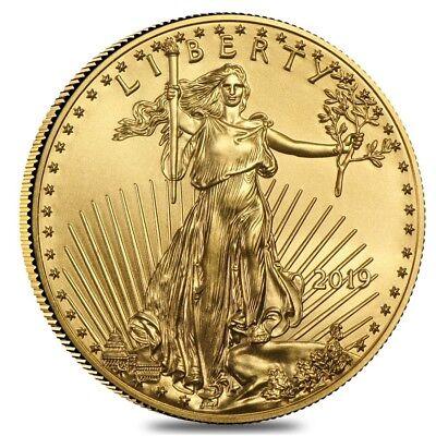 2019 1/2 oz Gold American Eagle $25 Coin BU