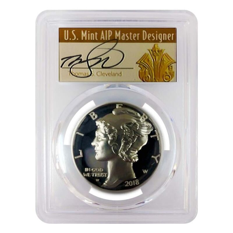 2018-W 1 oz Proof Palladium American Eagle PCGS PF 70 FS (Thomas S. Cleveland