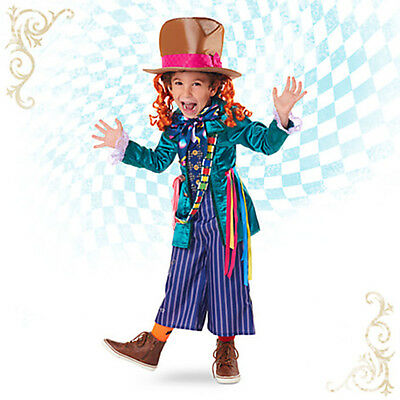 Disney Store Alice in Wonderand MAD HATTER Halloween Costume & Hat - Kids 7/8 ()