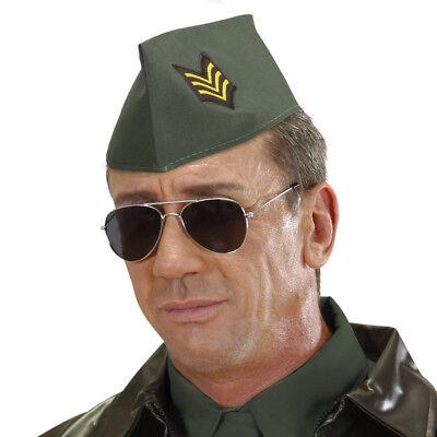 MILITÄR SCHIFFCHEN # Soldaten Armee Army Hut Mütze Kappe Kostüm Party Deko - Militär Kostüm Accessoires