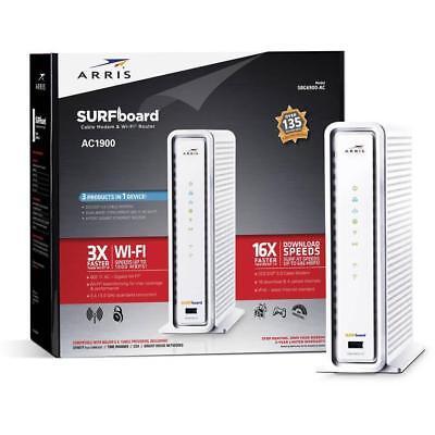 Arris Surfbrett SBG6900AC Docsis 3.0 Kabel Modem Wifi AC1900 Router Internet (Kabel-modem Ac1900)
